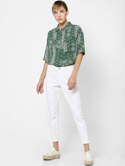 Green Paisley Print Shirt
