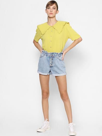 Yellow Oversized Collar Shirt