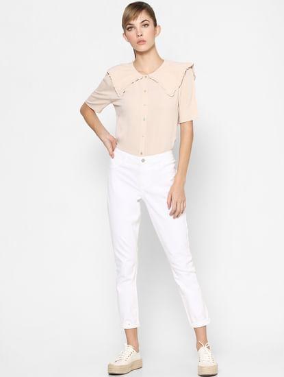 Light Pink Oversized Collar Shirt