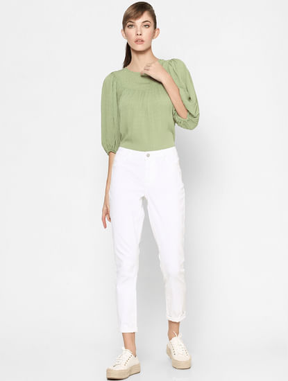 Green Textured Top
