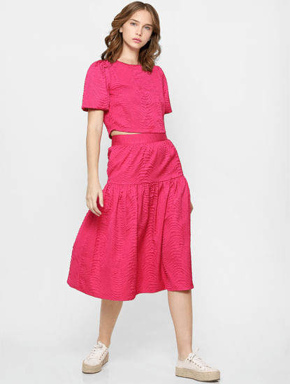 Pink Midi Co-ord Skirt