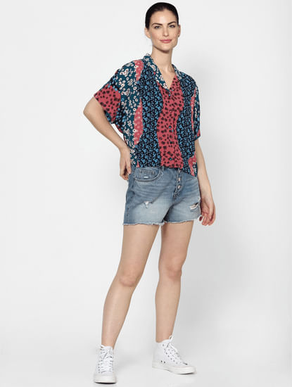Blue & Pink Floral Shirt