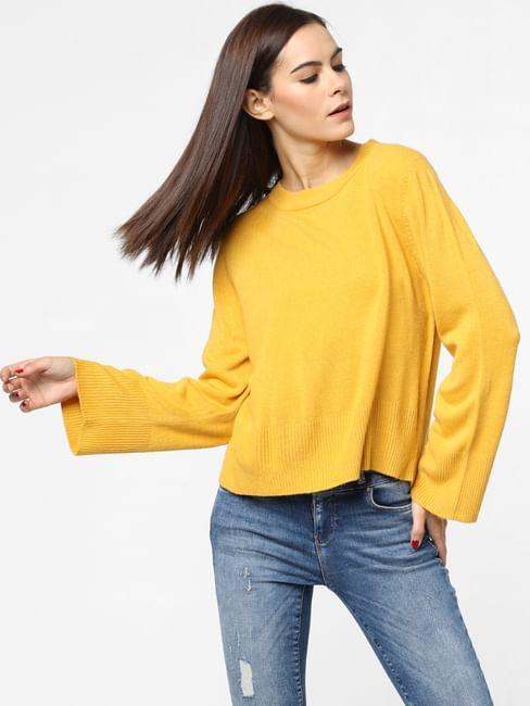 Mustard Loose Fit Pullover