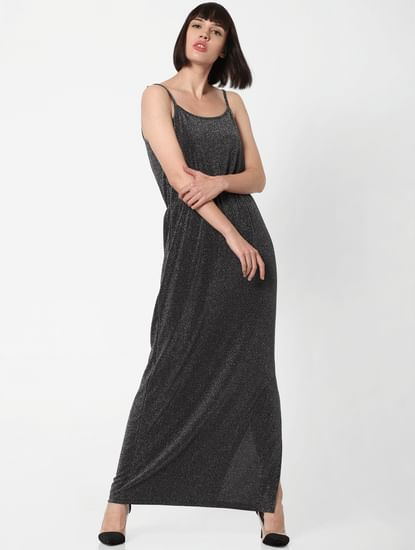 Silver Shimmer Maxi Dress