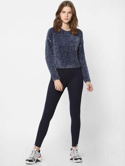 Blue Knit Pullover