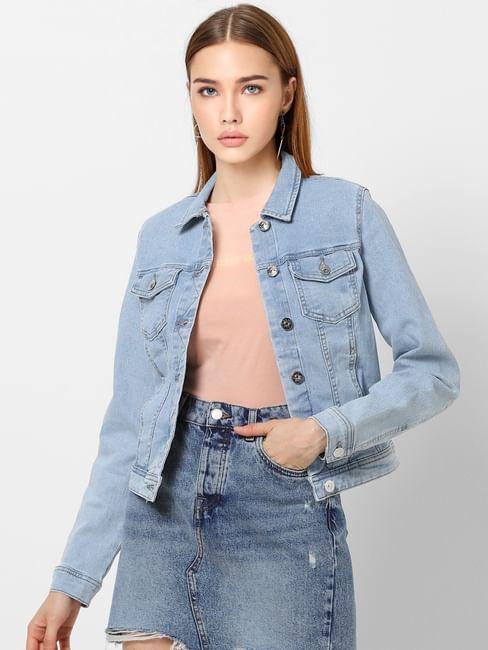 Light Blue Washed Denim Jacket