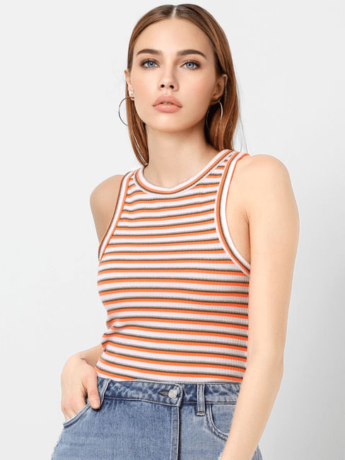 Multi-Coloured Glitter Striped Top