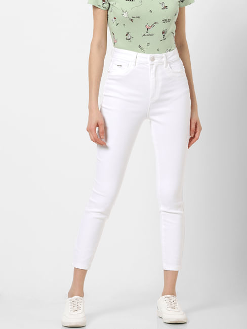 White High Rise Skinny Fit Jeans