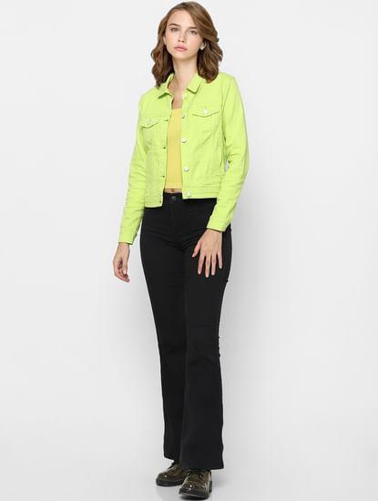 Neon Yellow Denim Jacket