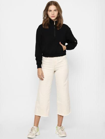 Black High Neck Co-ord Sweatshirt
