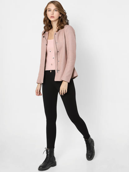 Faded Pink Lightweight Hooded Jacket
