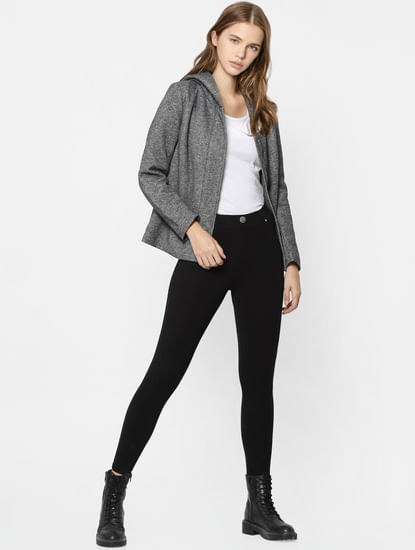 Grey Lightweight Hooded Jacket