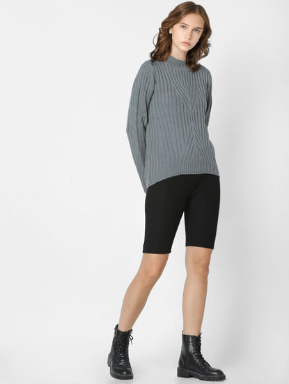 Grey Textured Pullover