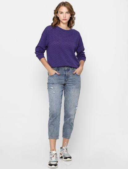 Violet Cut Work Pullover