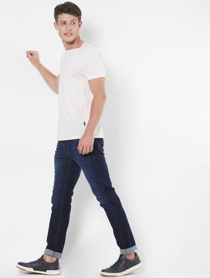 Dark Blue Low Rise Slim Fit Jeans