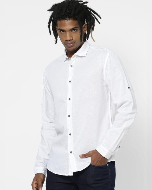 White Full Sleeves Shirt
