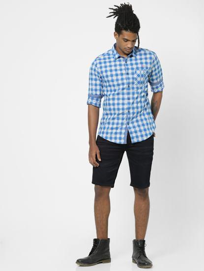 Blue Full Sleeves Check Shirt