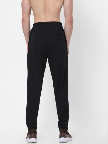 Black Drawstring Slim Trackpants