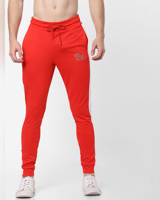 Red Tape Detail Slim Trackpants