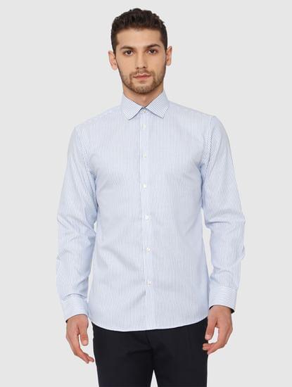 Blue Slim Fit Full Sleeves Formal Shirt