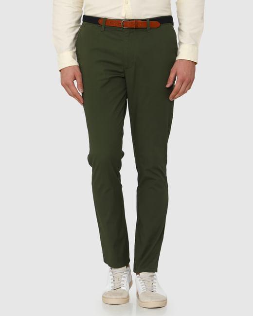 Green Slim Fit Chinos