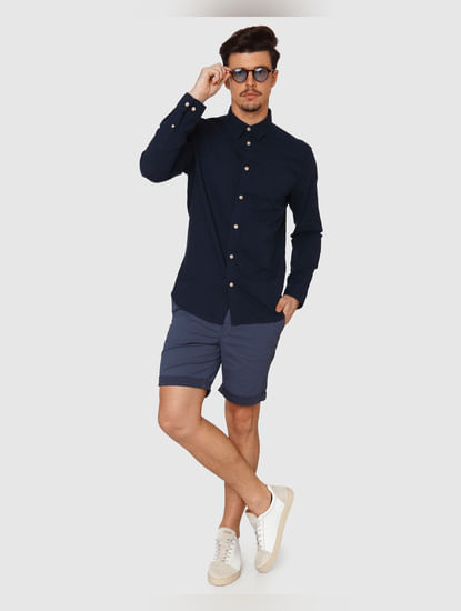 Navy Blue Full Sleeves Shirt