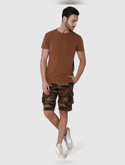 Brown Crew Neck T-shirt