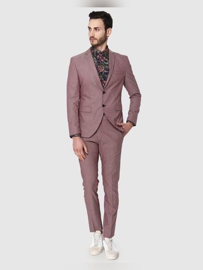 Dark Pink Slim Fit Blazer