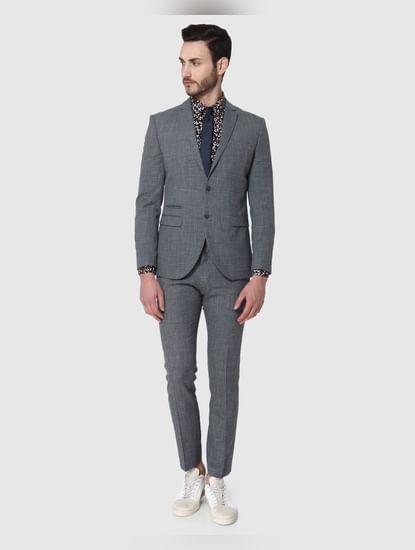 Grey Formal Slim Fit Blazer