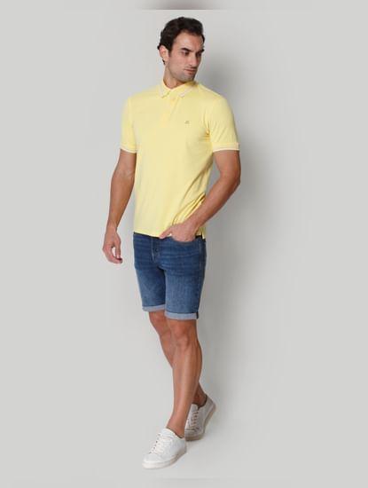 Yellow Polo Neck T-shirt