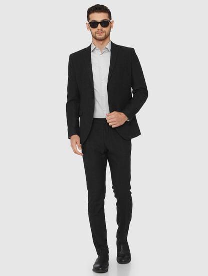 Dark Grey Formal Slim Fit Blazer