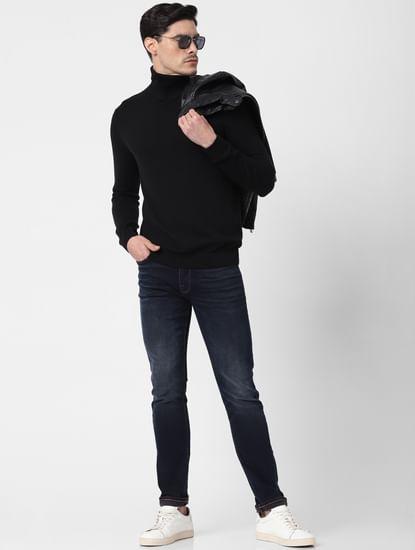 Black Roll Neck Pullover