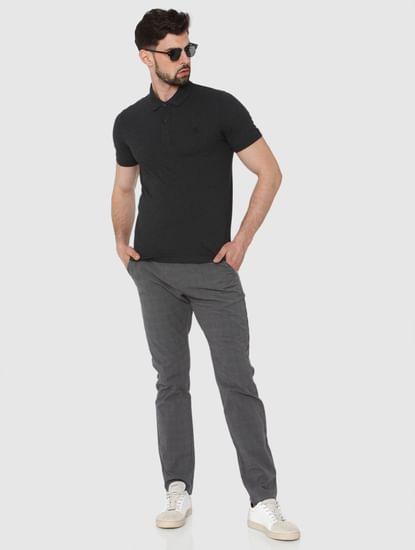 Dark Grey Polo Neck T-Shirt