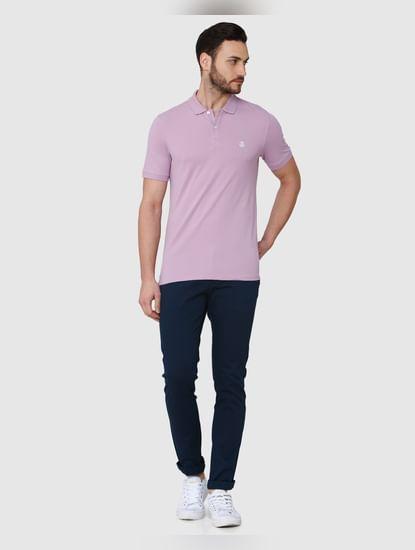 Purple Polo Neck T-Shirt