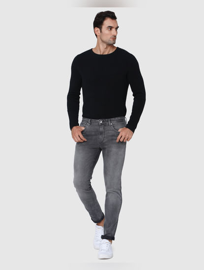 Grey Regular Fit Jeans