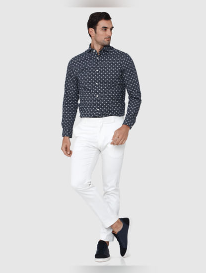White Formal Trousers