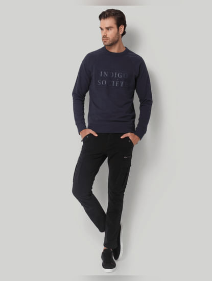 Blue Printed Pullover