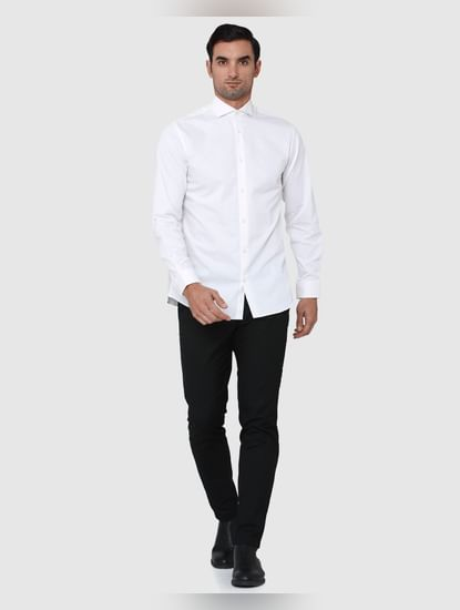 White Full Sleeves Shirt