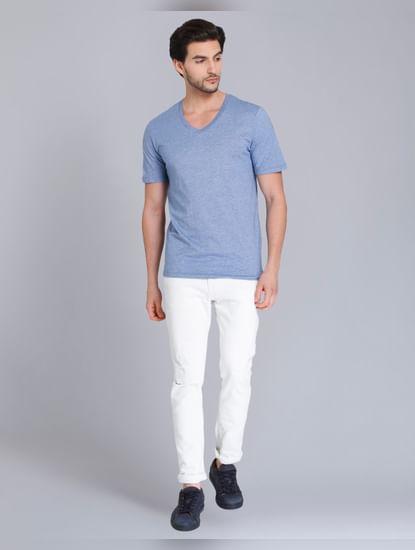 Blue V Neck T-Shirt