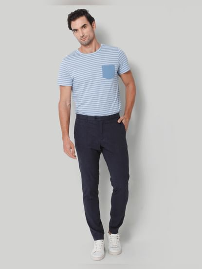 Blue Formal Trousers