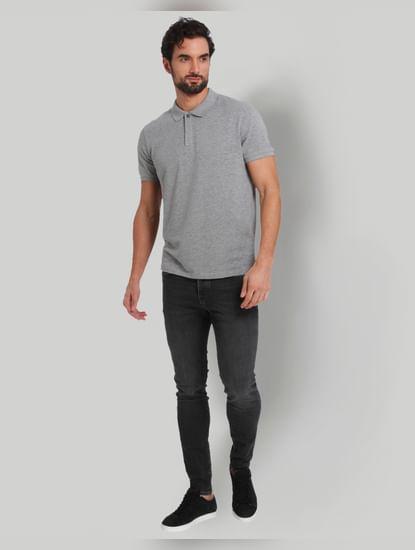 Grey Polo Neck T-Shirt