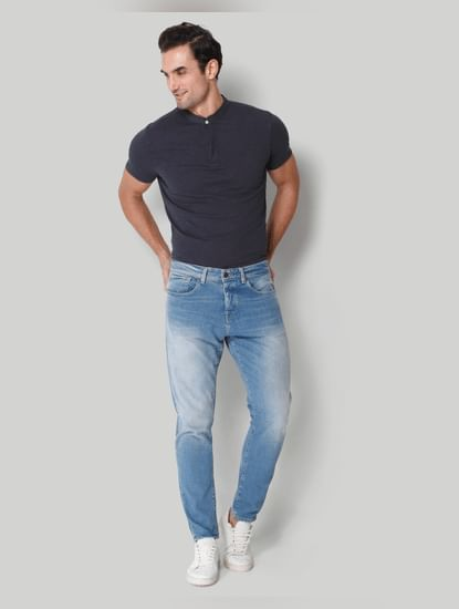 Blue Tapered Fit Jeans