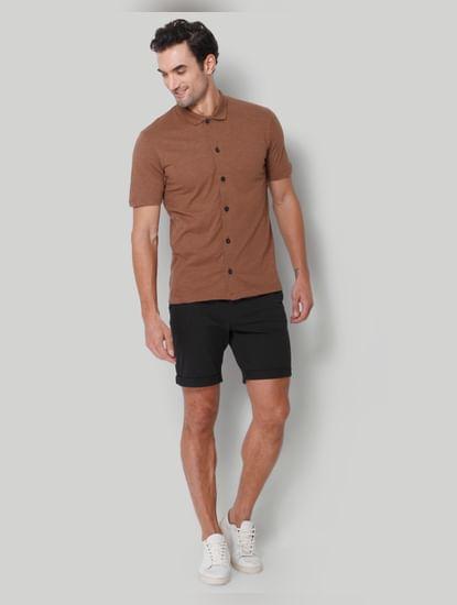 Brown Polo Neck T-Shirt