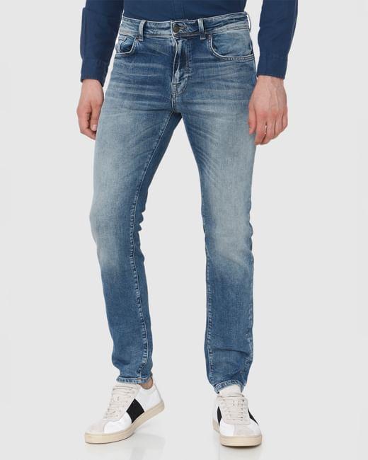Blue Washed Leon Slim Fit Jeans