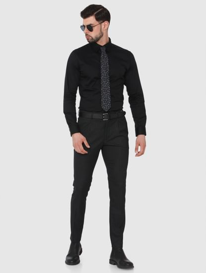 Black Formal Full Sleeves Shirt
