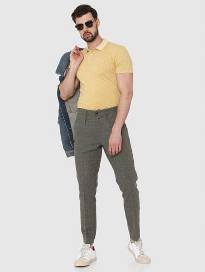 Yellow Overdyed Polo Neck T-Shirt