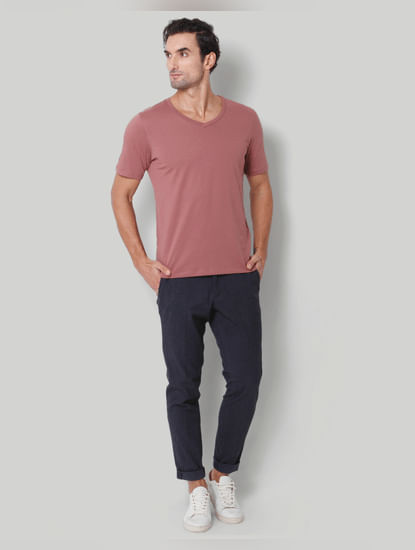 Rose V-Neck T-Shirt