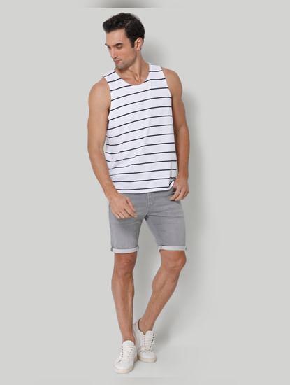 White Striped Vest