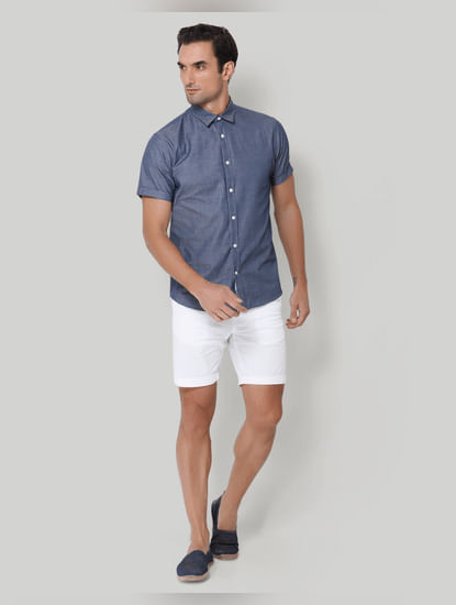 Blue Short Sleeves Shirt