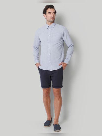 Grey floral print Full Sleeves Shirt